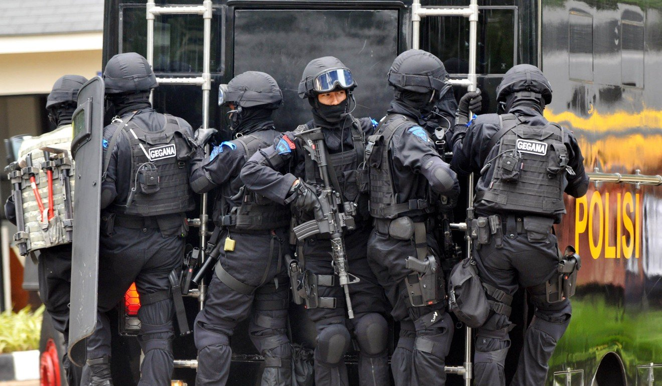 Indonesia's elite anti-terror police unit Densus 88 during a training exercise in 2010. Photo: AFP