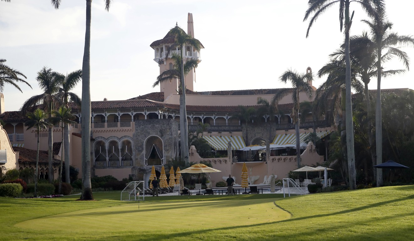US President Donald Trump's Mar-a-Lago resort in Florida in 2017. Photo: AP