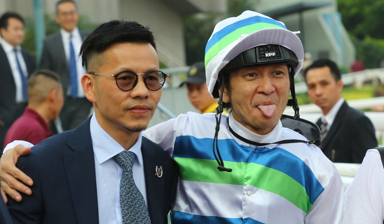 Trainer FrankieLorand his brother-in-law, Macau jockey Peter Ho.