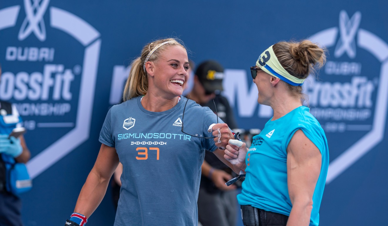 Sara Sigmundsdottir and Samantha Briggs at the Dubai CrossFit Championship. Photo: Dubai CrossFit Championship