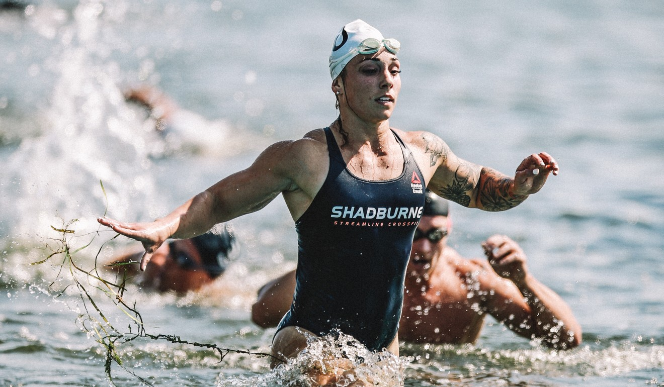 Bethany Shadburne comes out of the water at the 2019 CrossFit Games. Photo: CrossFit