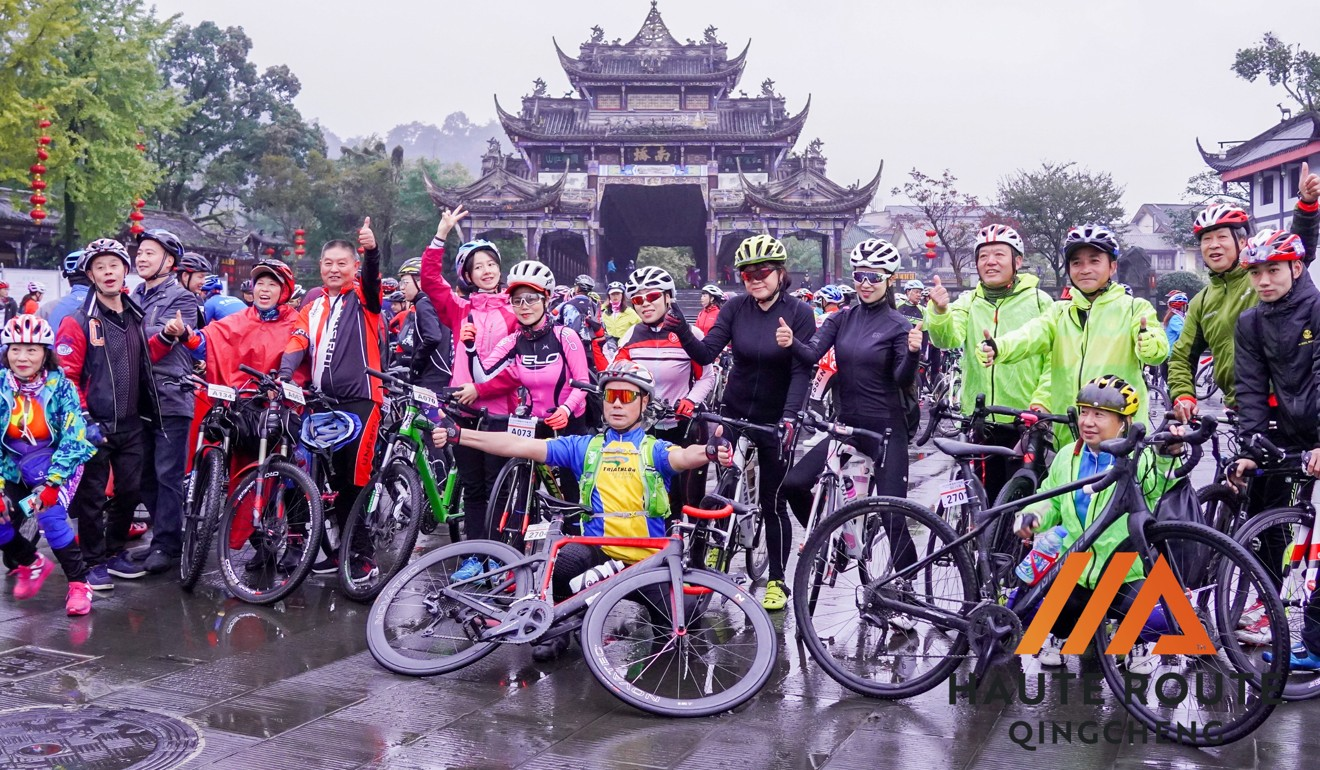 The second day of Haute Route Qingcheng sees a one-day fun ride event hosted for non-competition level local riders.