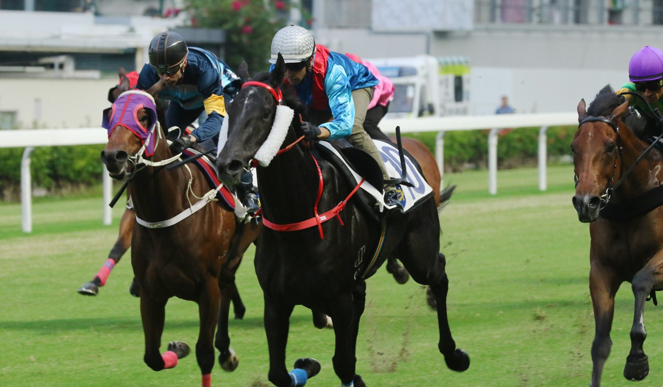 Dark Dream trials under jockey Joao Moreira at Happy Valley two weeks ago.