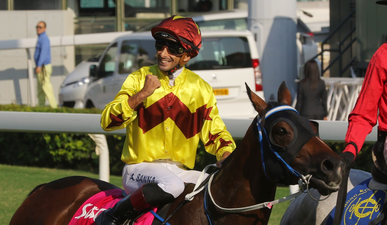 Alberto Sanna is all smiles after Southern Legend's win.