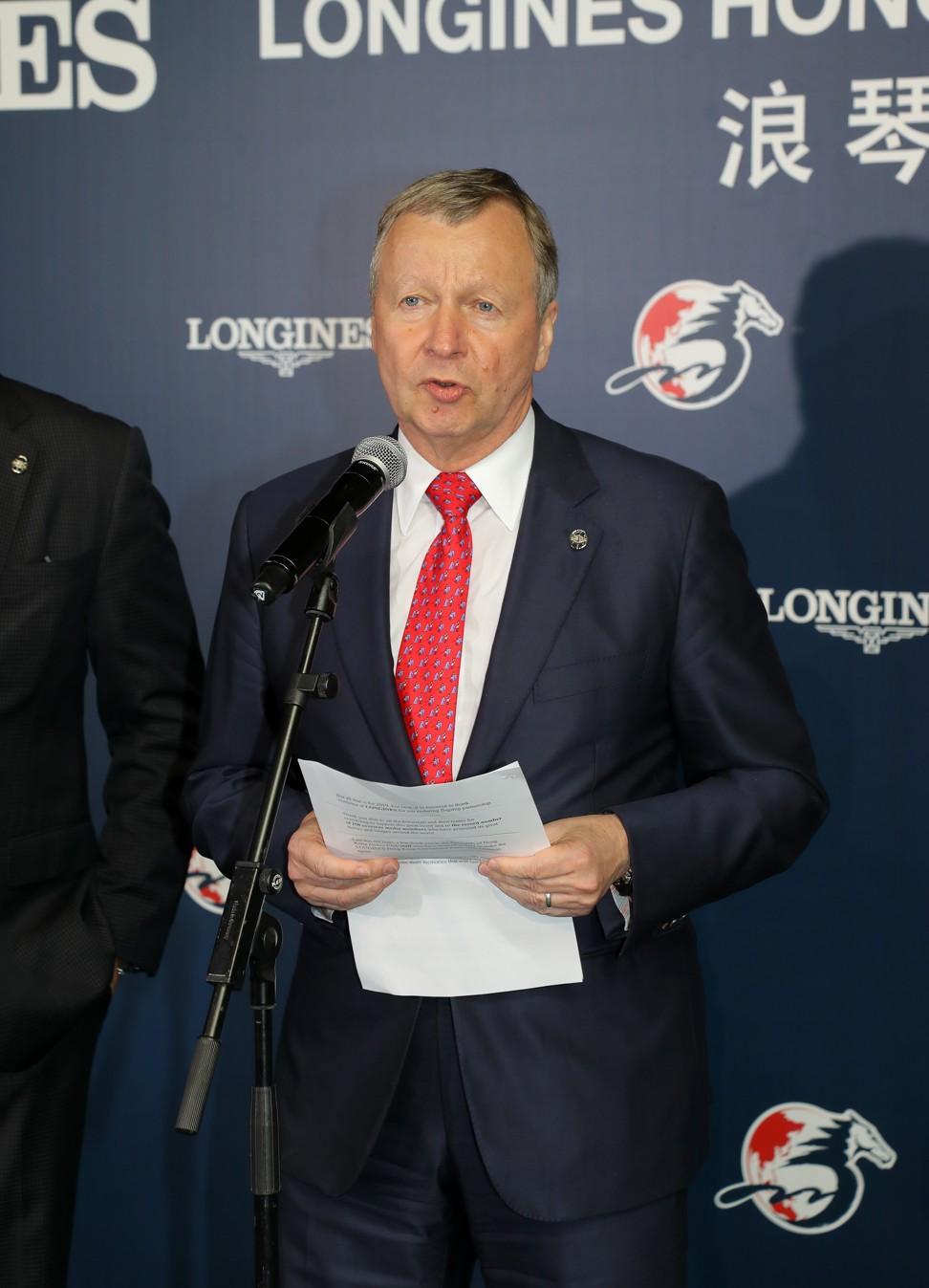 Hong Kong Jockey Club chief executive Winfried Engelbrecht-Bresges