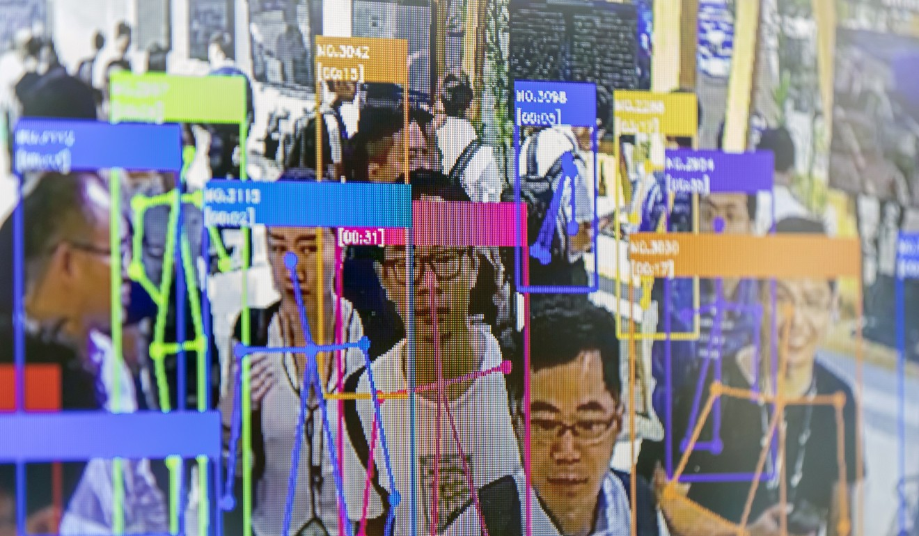 A screen demonstrates facial-recognition technology at the World Artificial Intelligence Conference (WAIC) in Shanghai, China, on Thursday, Aug. 29, 2019. Photo: Bloomberg