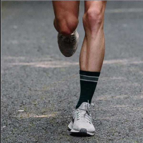 Tube socks are an old school look. Photo: Tracksmith