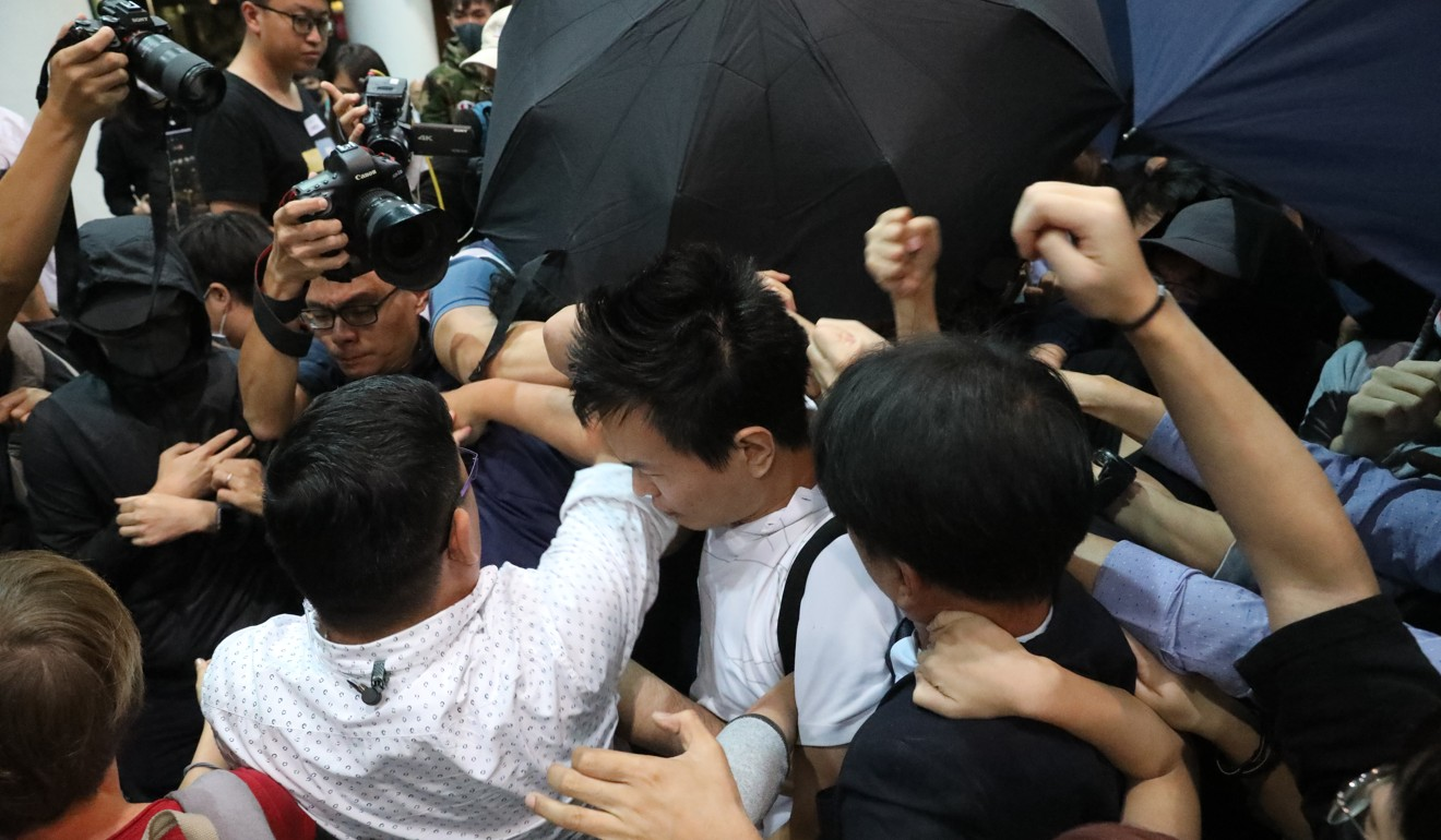 Regular scuffles have broken out at the university. Photo: Dickson Lee