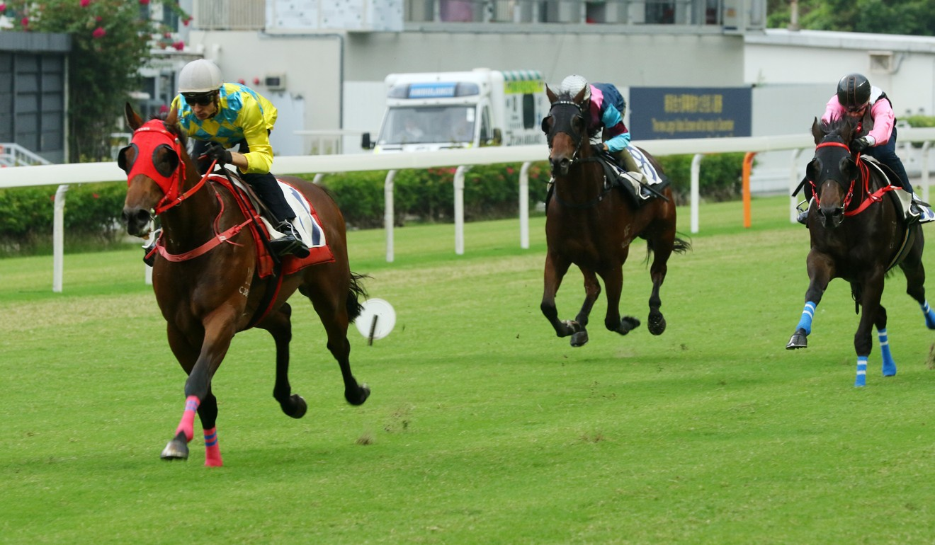 Winning Method clears out in a Happy Valley trial last month.