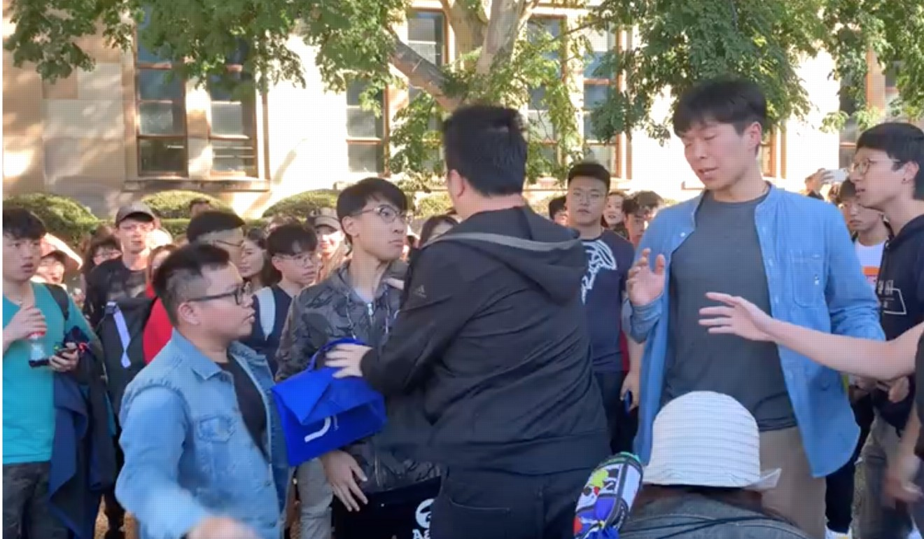 Multiple university campuses have been the site of tensions and physical clashes between Hongkongers and mainland Chinese students in recent months during demonstrations related to the political crisis in Hong Kong. Photo: Twitter