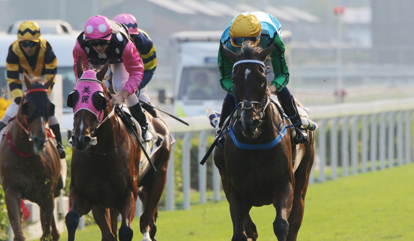 Beauty Generation (left) is beaten by Rise High at Sha Tin.