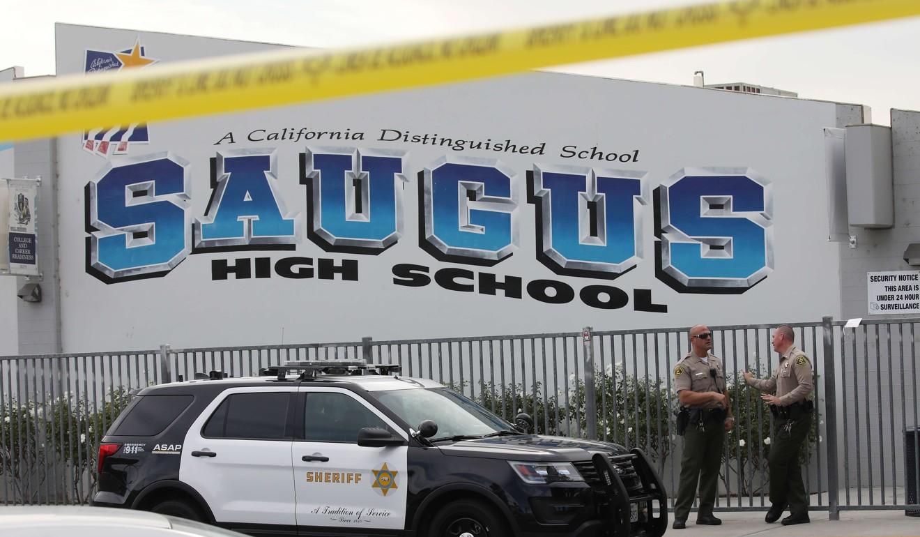 Teenage gunman who killed two in shooting rampage at California high school dies in hospital
