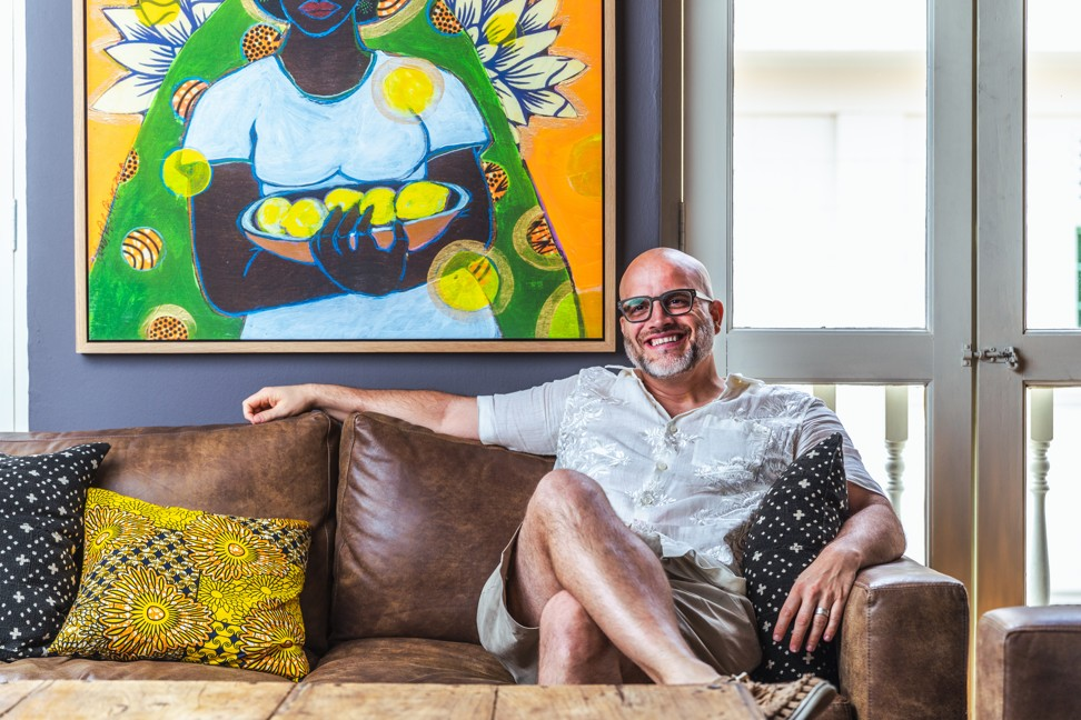 Kurt Wagner, owner of Kafe Utu, a newly opened Afro-centric restaurant in Singapore.