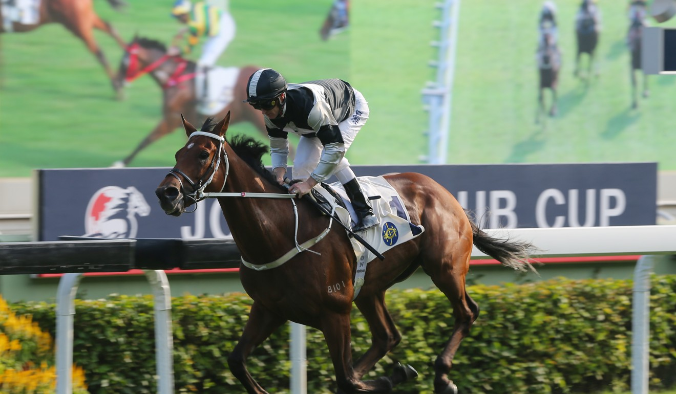 Exultant coasts to victory in Sunday's Jockey Club Cup at Sha Tin.