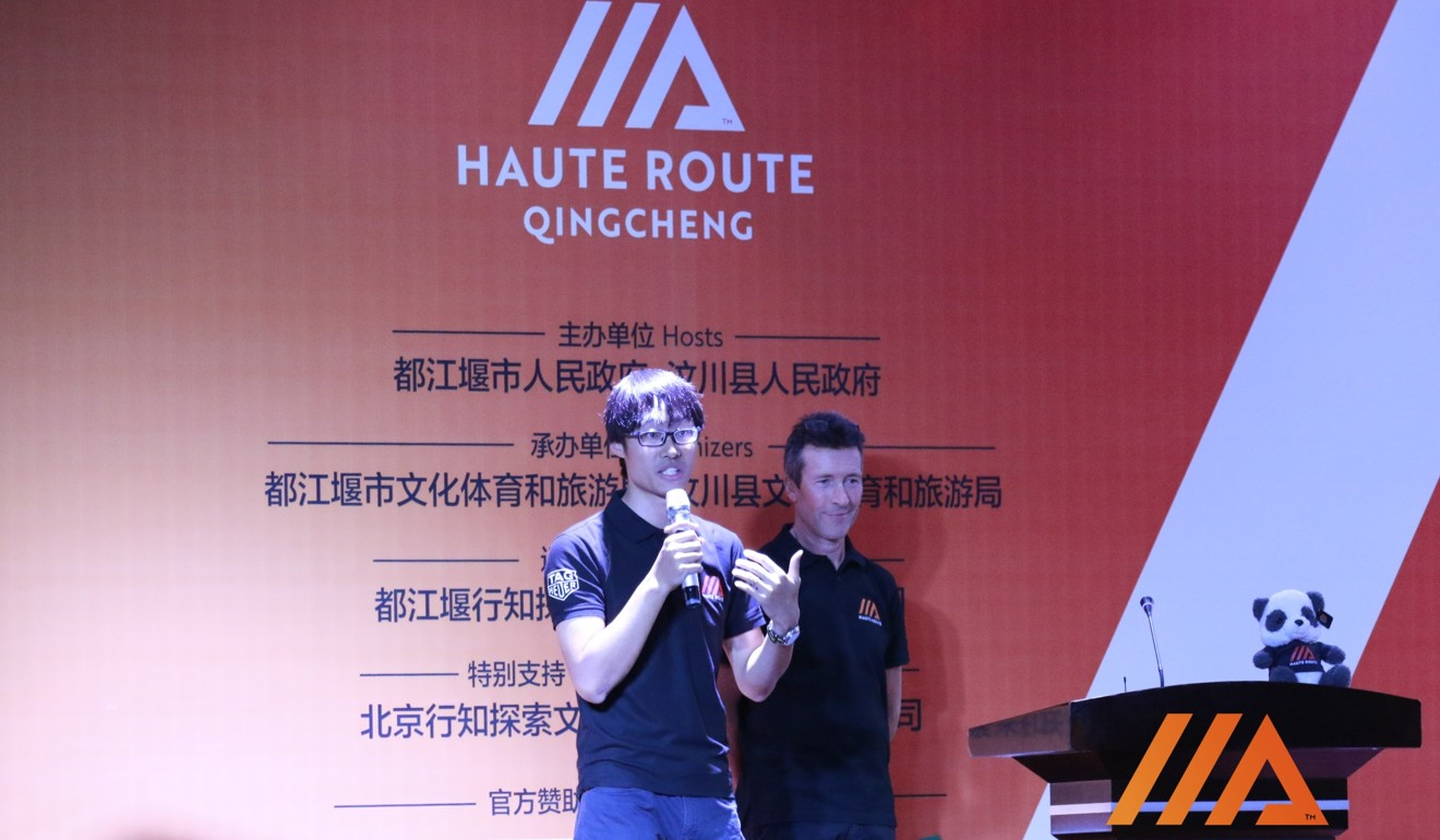 Harry Li learned his English from 'Top Gear', and now works as a bilingual commentator. Photo: Haute Route