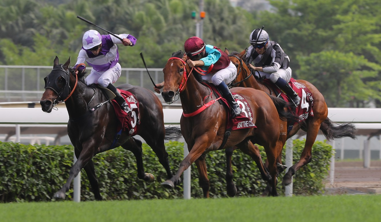 Rattan (left) runs second at Group One level.