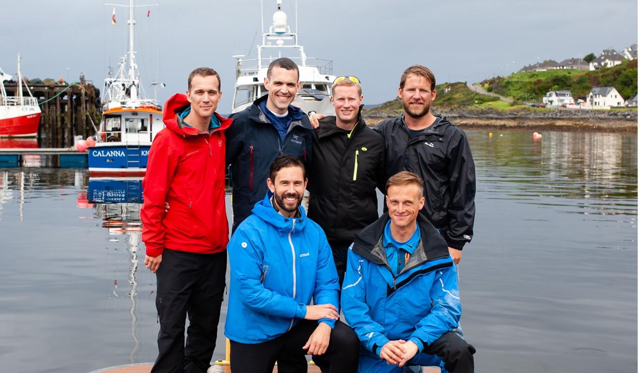 Back, from left: Colin O'Brady, Andrew Towne, Jamie Douglas-Hamilton, Cameron Bellamy. Front: John Petersen, Fiann Paul. Photo: Discovery