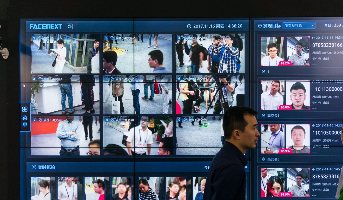 Face recognition surveillance technology at a hi-tech fair in Shenzhen. Photo: Alamy