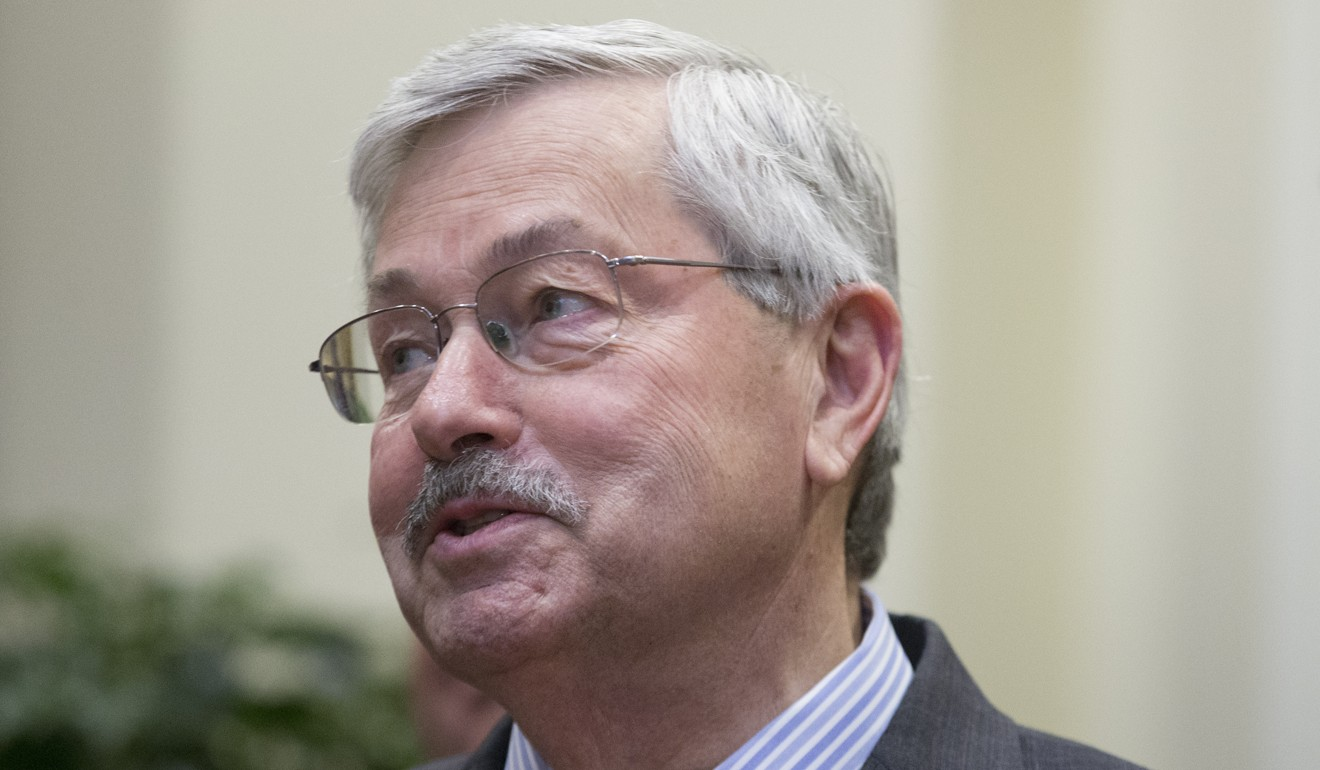 America's ambassador to China Terry Branstad was summoned by the foreign ministry in Beijing. Photo: EPA-EFE