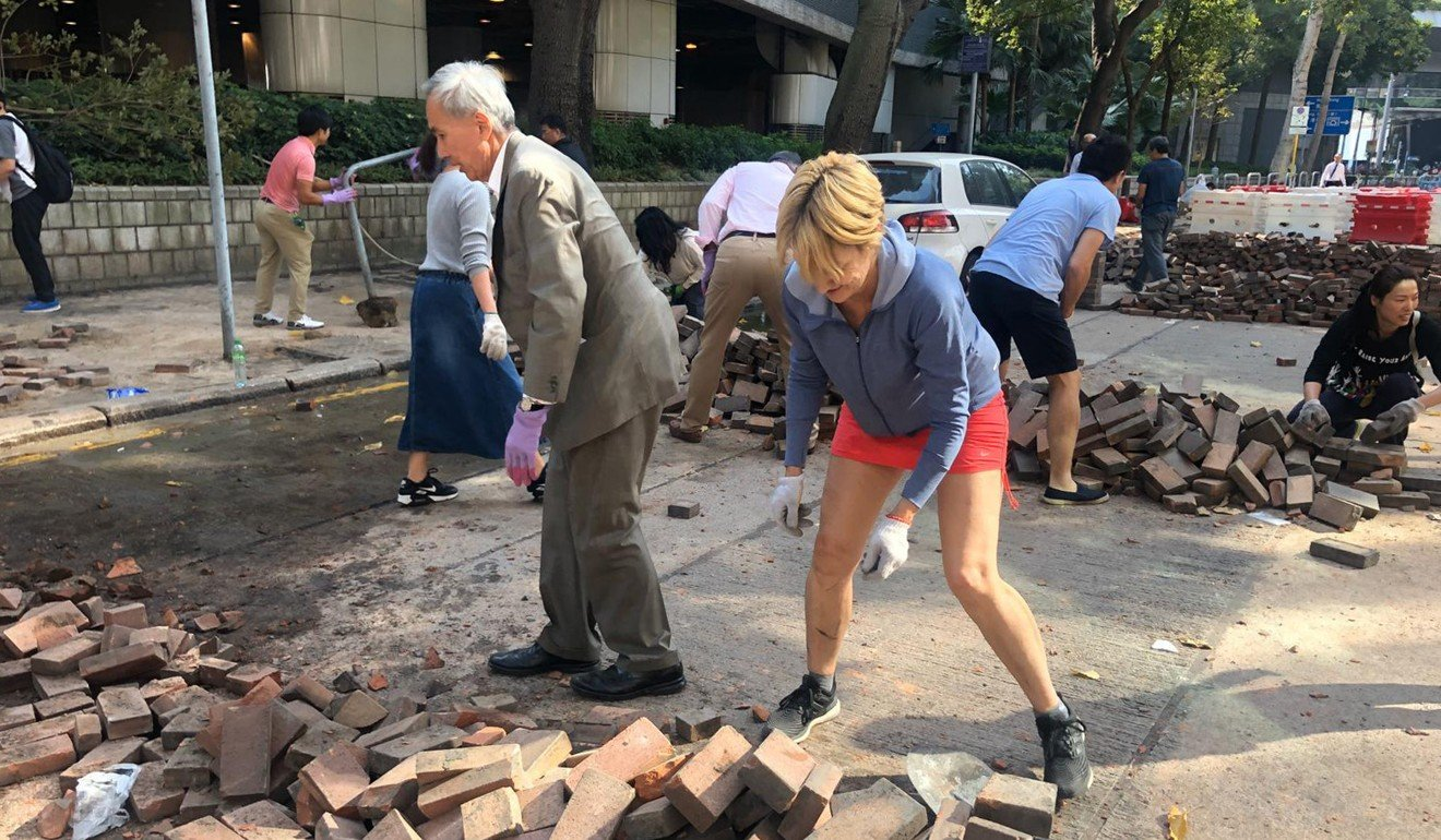 Hongkongers are restoring order to their own city, brick by brick. Who needs the Carrie Lam administration?