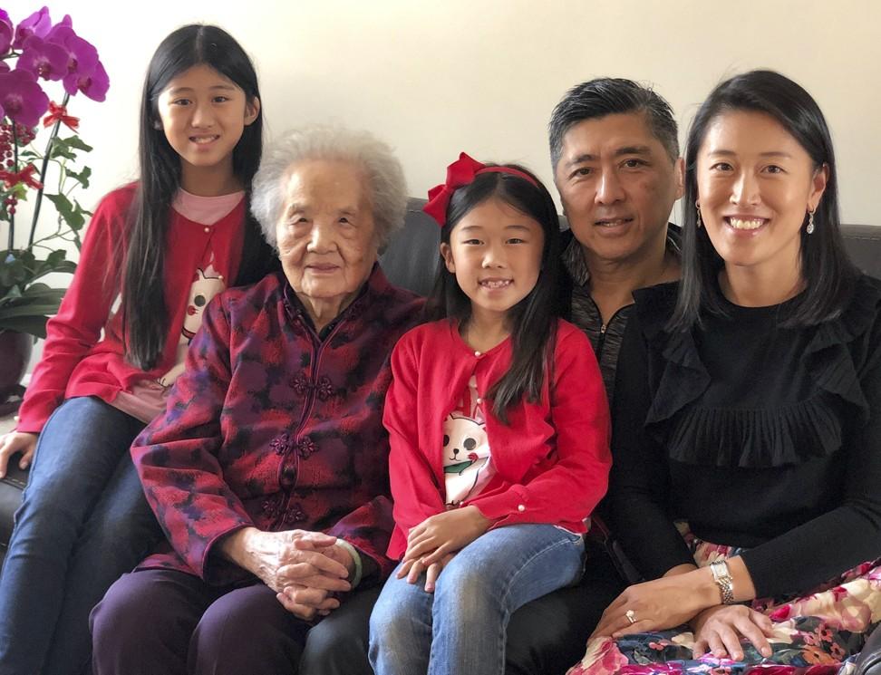 Mama Cheng with Tee family members Brianna, Alanna, David and Therese.