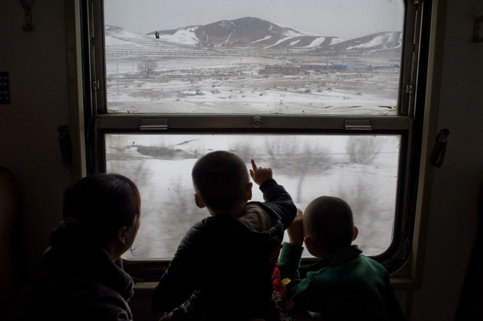 Train No 6859, which runs between Jining South and Zhelimu, in Inner Mongolia, in January 2015. Photo: Qian Haifeng