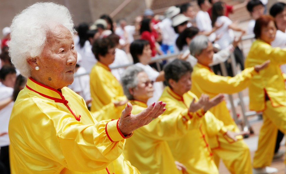 Exercise such as tai chi keeps you energised, says 99-year-old Mama Cheng. Photo: SCMP