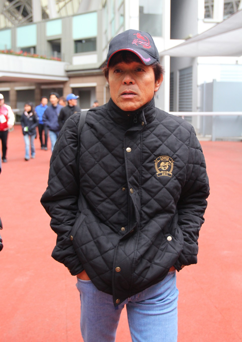 Almond Eye's trainer Sakae Kunieda at Sha Tin in 2011.
