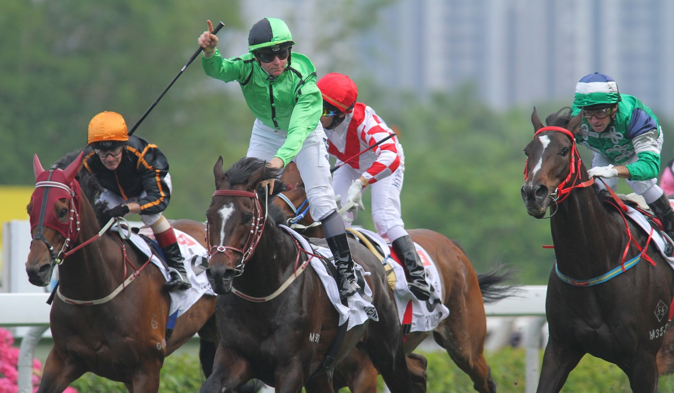 James McDonald wins the 2012 Champions Mile on Xtension.