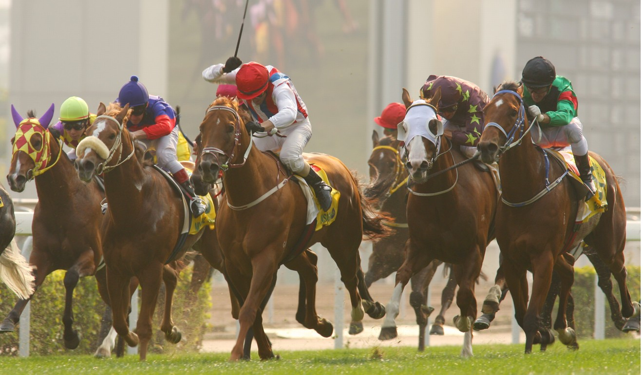 Inspiration (middle) wins the 2008 Hong Kong Sprint.