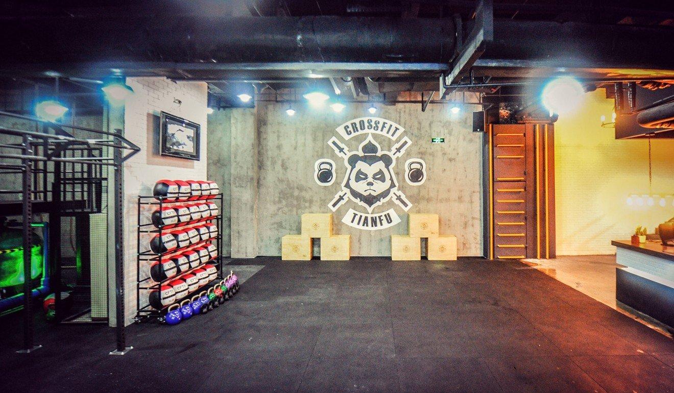 CrossFit Tianfu's original basement gym in Chengdu. Photo: Handout
