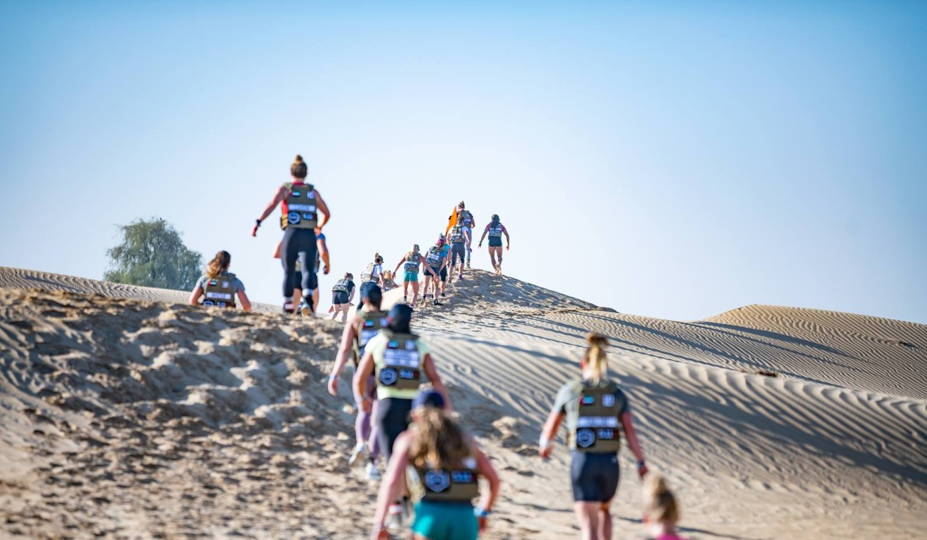 Last year the athletes were seriously tested in a desert run. Photo: Dubai CrossFit Championship