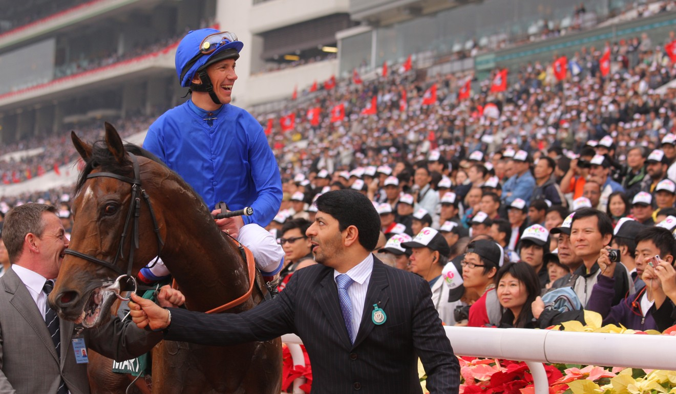 Frankie Dettori after winning at Sha Tin.