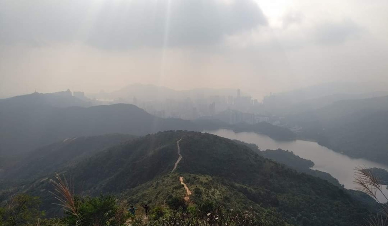 The view from Needle Hill in Hong Kong during a Trailwalker training session. Photo: Patrick Blennerhassett