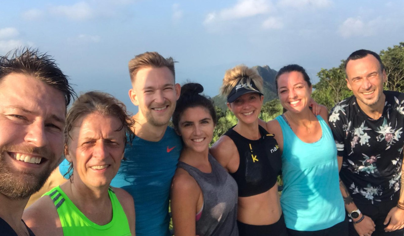 Atop The Peak with the Gone Running crew. Photo: Victoria Land