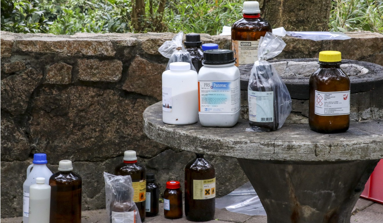 As the chemicals were found near a reservoir, the Water Supplies Department has been asked to make an appropriate follow-up action. Photo: Handout
