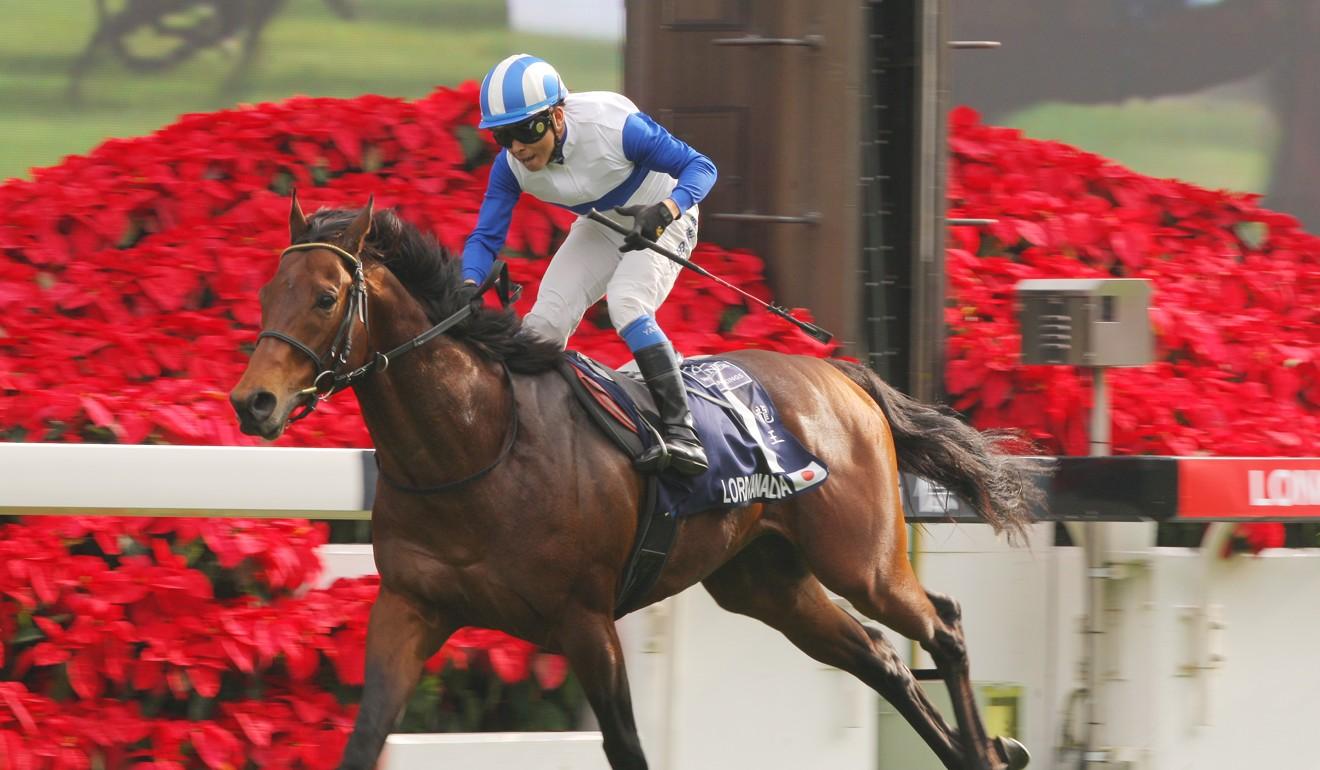 Lord Kanaloa wins the Hong Kong Sprint at Sha Tin.
