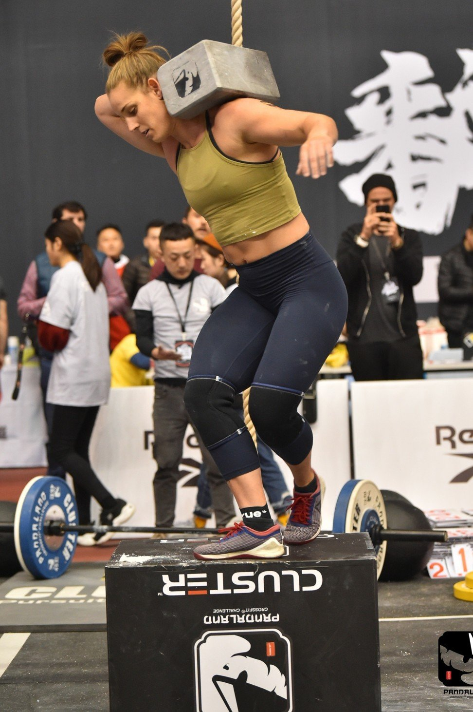 Roberts leads the women after the first day of the Pandaland CrossFit Challenge. Photo: Pandaland CrossFit Challenge