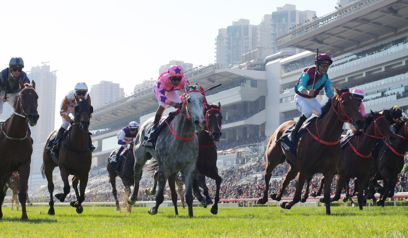 Beat The Clock sees off his rivals in the Hong Kong Sprint.