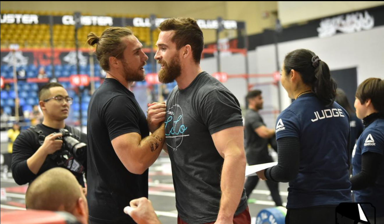Khan Porter and Adam Davidson, who came third at the Pandaland CrossFit Challenge. Photo: Pandaland CrossFit Challenge