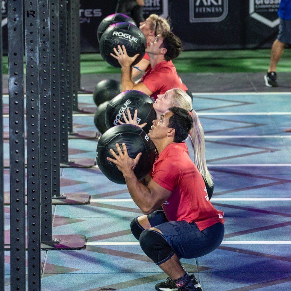 Teams compete on day two of the Dubai CrossFit Championship. Photo: Dubai CrossFit Championship