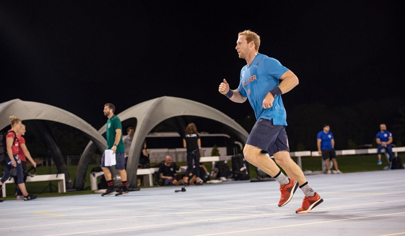 Vellner admitted single modality events like running aren't his strongest. Photo: Dubai CrossFit Championship