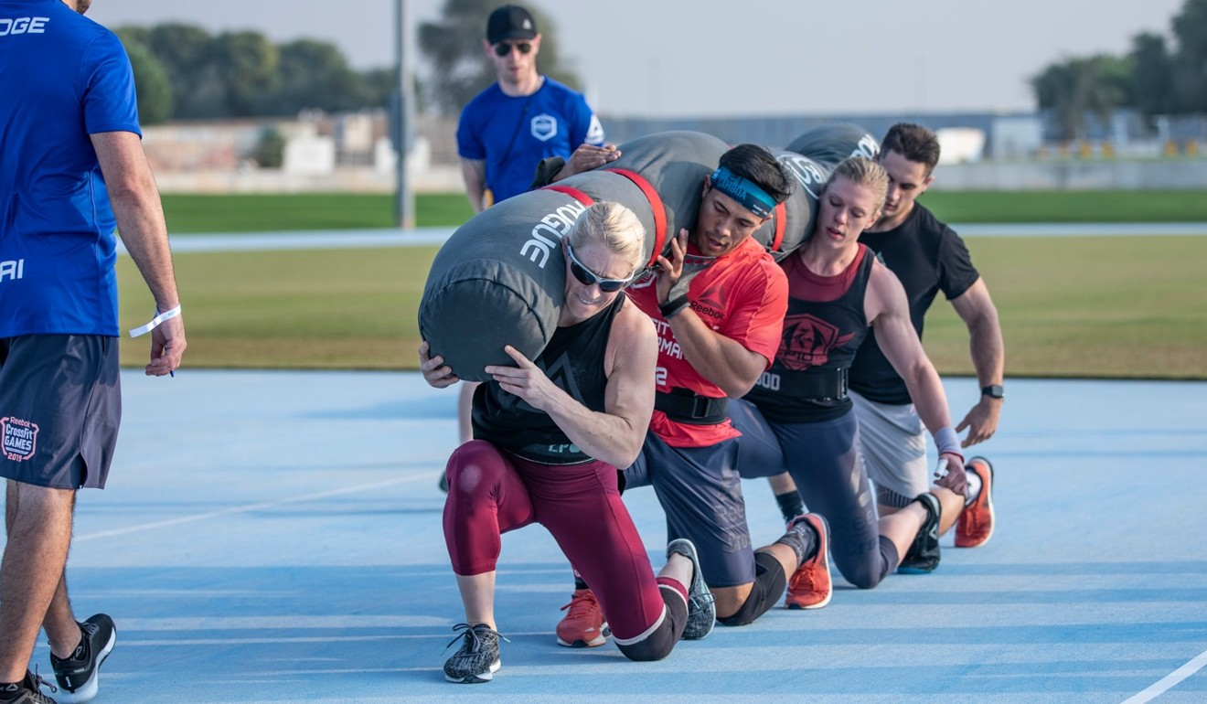 The four have now booked their ticket to the 2020 CrossFit Games. Photo: Dubai CrossFit Championship