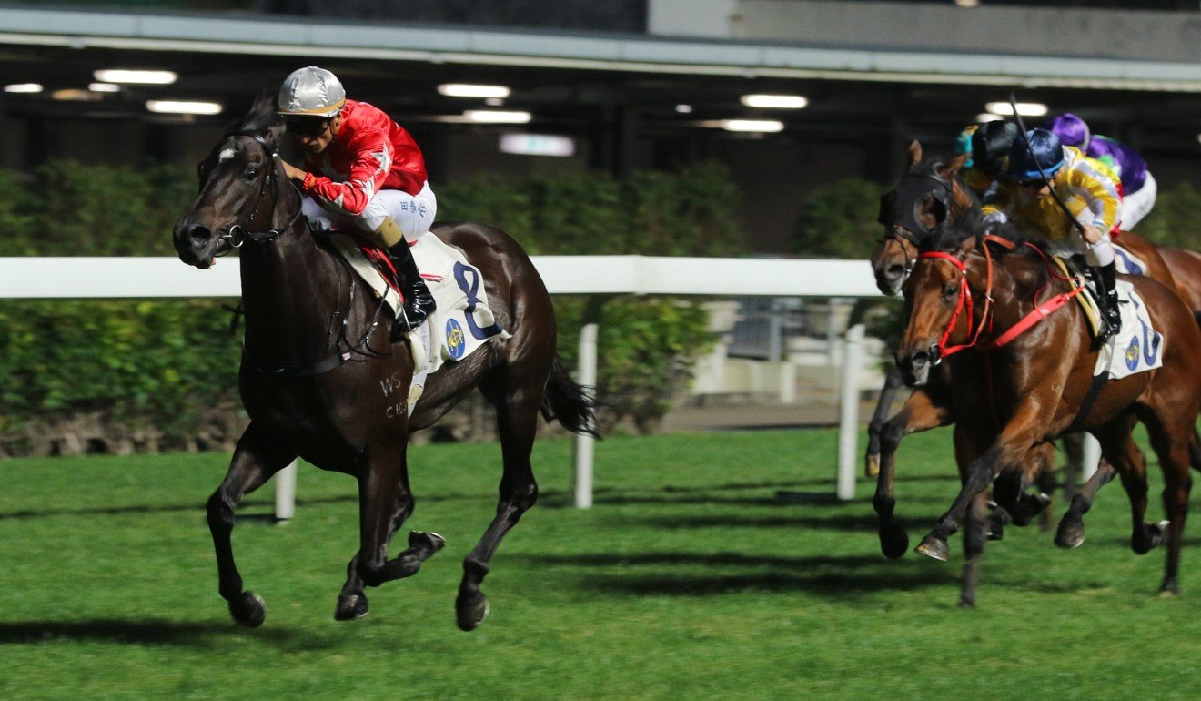 Victory In Hand clears out to win comfortably at Happy Valley. Photo: Kenneth Chan