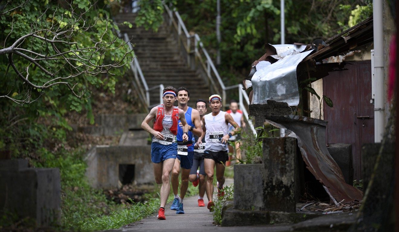 Jeff Campbell leads the Lantau 2 Peaks in 2017. He says you should test your gear when training. Photo: Sunny Lee/Action Asia