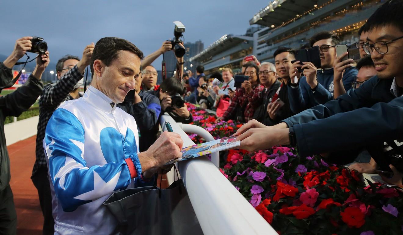 Douglas Whyte signs off as a jockey.