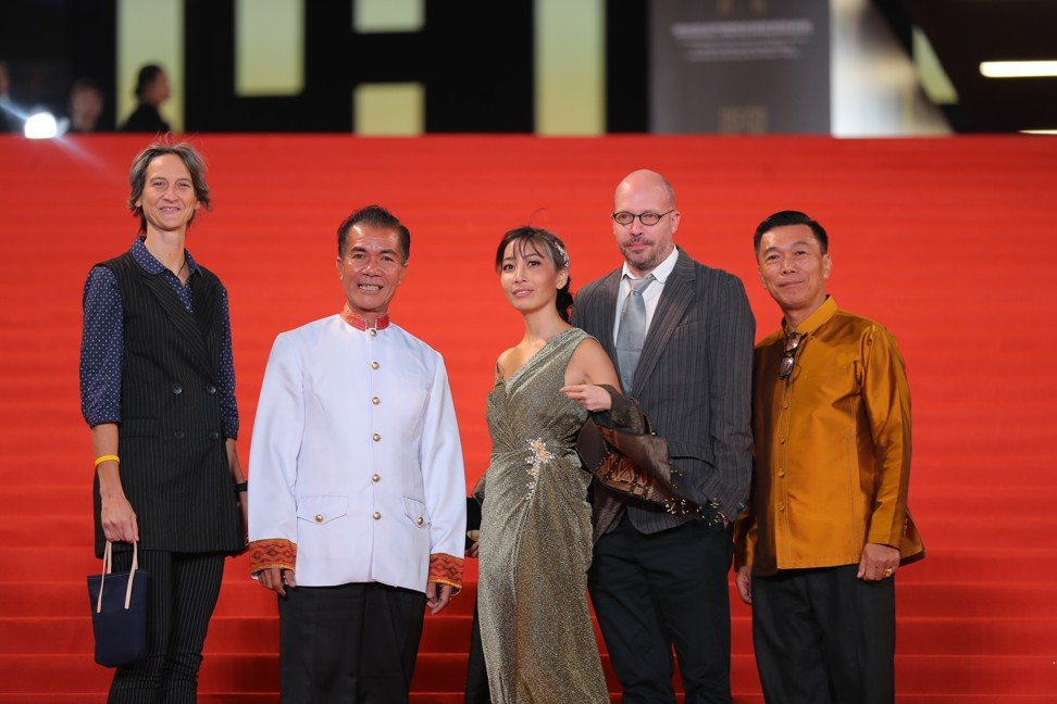 Mattie Do (centre) at the opening red carpet of the 2019 Macau film festival and awards.