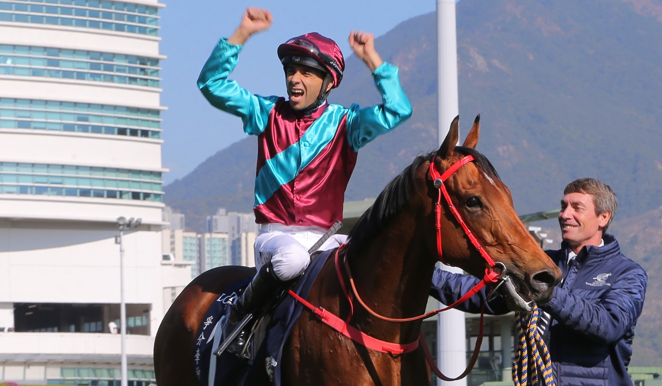 Joao Moreira wins on Beat The Clock on his way to a HKIR five-timer.