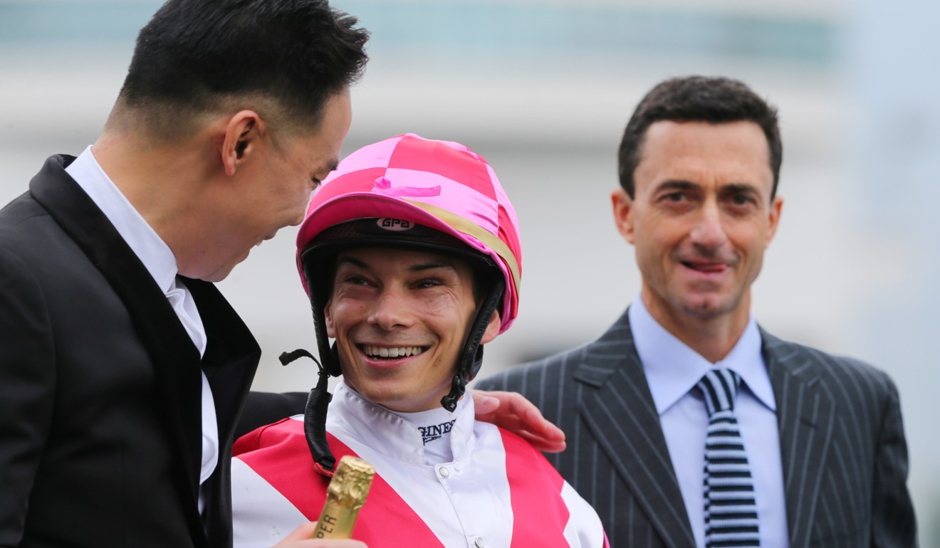 Alexis Badel with trainer Douglas Whyte.