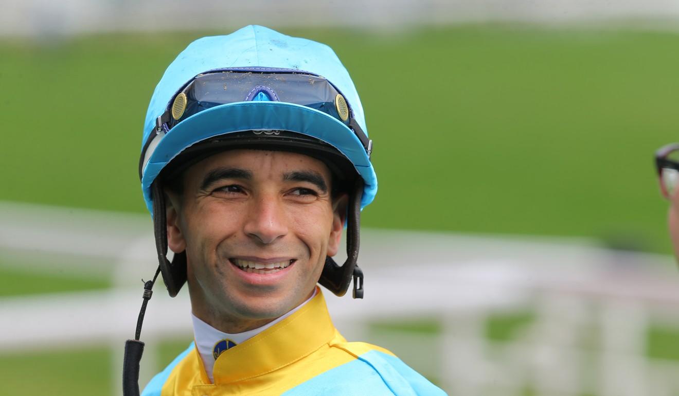 Joao Moreira after riding a winner at Sha Tin.